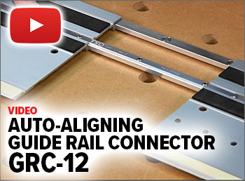 Watch this video to see how the GRC-12 auto-aligns and secures two guide rails at the same time.