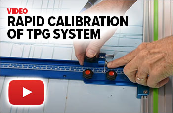 Watch this video to see how fast the TPG parallel guides can be calibrated.